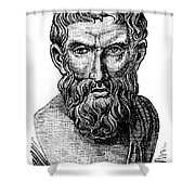 Epicurus (343?-270 B.c.) Shower Curtain by Granger