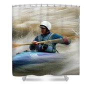 Eric Brown Paddling The Whitewater Shower Curtain