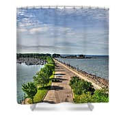 Erie Basin Marina Summer Series 0001 Shower Curtain