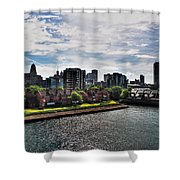 Erie Basin Marina Summer Series 0002 Shower Curtain