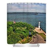 Erie Basin Marina Summer Series 0004 Shower Curtain
