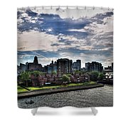 Erie Basin Marina Summer Series 0005 Shower Curtain
