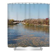 Erie Canal Panorama Shower Curtain