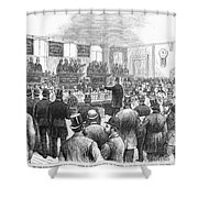 Erie Railway Auction, 1878 Shower Curtain