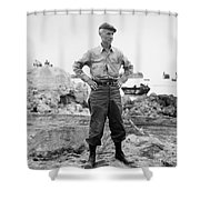 Ernie Pyle (1900-1945). American Journalist. Photograph, C1942 Shower Curtain