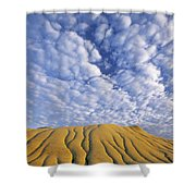 Erosion Channels On Rock, Red Deer Shower Curtain
