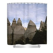 Erosion-chiseled Rock Formations Formed Shower Curtain