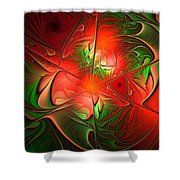 Eruption - Abstract Art Shower Curtain