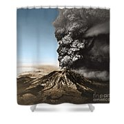 Eruption Of Mount St. Helens Shower Curtain
