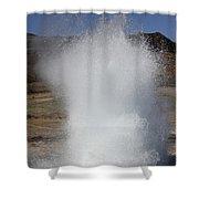 Eruption Of Strokkur Geysir, Iceland Shower Curtain