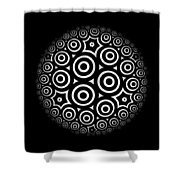 Escher Disc 2 Shower Curtain
