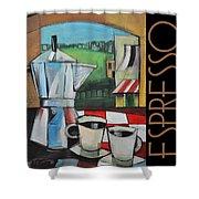 Espresso Poster Shower Curtain
