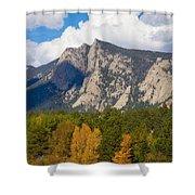 Estes Lake Autumn View  Shower Curtain