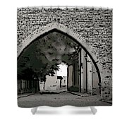 Estonia Old Town Wall Shower Curtain