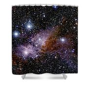 Eta Carinae Nebula, Infrared Image Shower Curtain