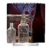 Etched Glass Shower Curtain