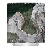 Etched Rock Water 5 Shower Curtain