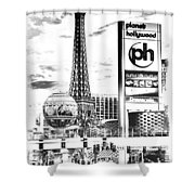 Etched Vegas Shower Curtain