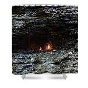 Eternal Flame Reflections Shower Curtain