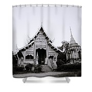Ethereal Buddhism Shower Curtain