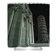 Ethereal Moonlight Scene Of Duomo Santa Shower Curtain