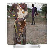 Ethiopia-south Tribesman Boy No.3 Shower Curtain