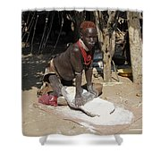 Ethiopia-south Tribesman No.1 Shower Curtain