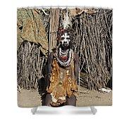 Ethiopia-south Tribesman No.2 Shower Curtain
