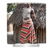 Ethiopia-south Tribesman Teenager No.1 Shower Curtain
