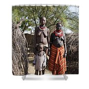 Ethiopia-south Tribeswomen No.1 Shower Curtain