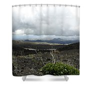 Etna's Landscape Shower Curtain