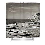 Etretat Beach Shower Curtain