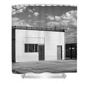 Eugene Building Bw Shower Curtain