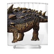 Euoplocephalus Tutus, A Prehistoric Era Shower Curtain