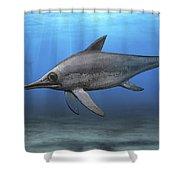 Eurhinosaurus Longirostris Swimming Shower Curtain