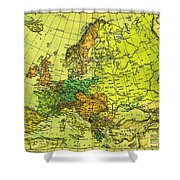 Europe Map Of 1911 Shower Curtain