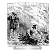 Europe: Witch Burning Shower Curtain by Granger