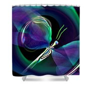 Eve Of The Dragonfly Shower Curtain