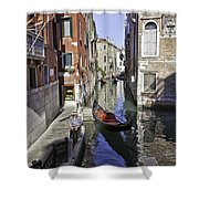 Even A Gondolier Has To Take A Break Shower Curtain