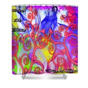 Even In Chaos Find Love Shower Curtain