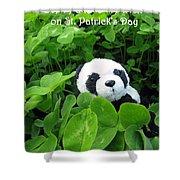 Even Pandas Are Irish On St. Patrick's Day Shower Curtain