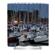 Evening At The Marina Shower Curtain