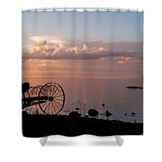 Evening Bell. Sunset On Valaam Island. Northern Russia Shower Curtain