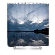 Evening Clouds Over Haukkajarvi Shower Curtain