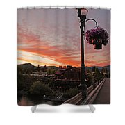 Evening Color Over Taprock Shower Curtain