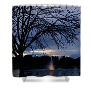 Evening Falls On Youth's Fountain Shower Curtain