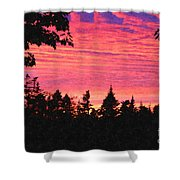 Evening In Paradise Painterly Style Shower Curtain