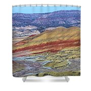 Evening In The Painted Hills Shower Curtain