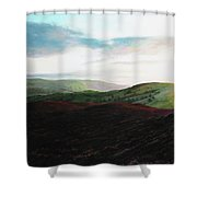 Evening Landscape Towards Llangollen Shower Curtain