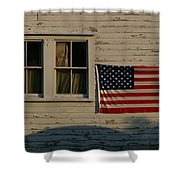 Evening Light On An American Flag Shower Curtain